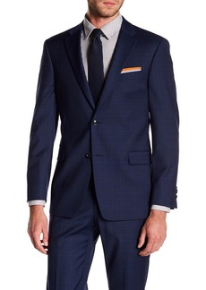 Tommy Hilfiger Adams Modern Fit TH Flex Performance Wool Blend Plaid Suit Separates Jacket