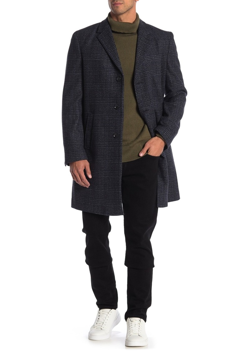 Tommy Hilfiger Addison Notch Lapel Wool Blend Coat