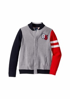 Tommy Hilfiger Baseball Sweater with Magnetic Buttons at Front (Little Kids/Big Kids)