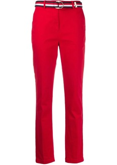 Tommy Hilfiger belted straight-leg trousers