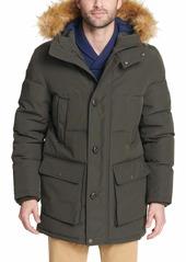Tommy Hilfiger Big & Tall Arctic Cloth Full Length Quilted Snorkel Parka  XL LONG Big & Tall
