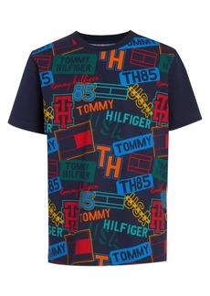 Tommy Hilfiger Toddler Boys Name Tag Print Short Sleeve T-shirt