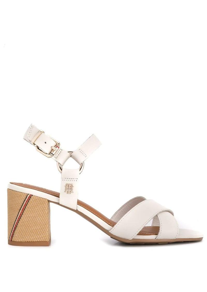 Tommy Hilfiger block heel strappy sandals
