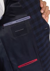 Tommy Hilfiger Blue & Black Glenplaid Two Button Notch Lapel Sport Coat