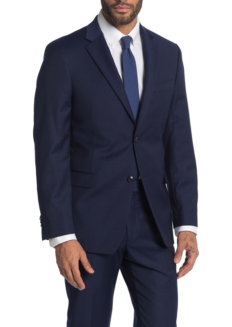 Tommy Hilfiger Blue Notch Collar Two Button Suit Separate Jacket