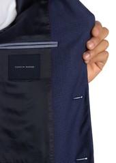 Tommy Hilfiger Blue Plaid Two Button Notch Lapel Sport Coat