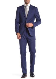 Tommy Hilfiger Blue Two Button Notch Lapel Classic Fit Suit