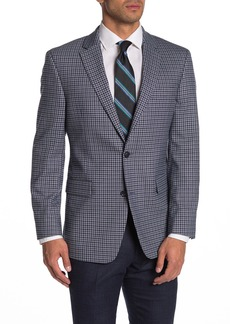 Tommy Hilfiger Blue/Grey Check Two Button Notch Lapel Regular Fit Suit Separates Jacket