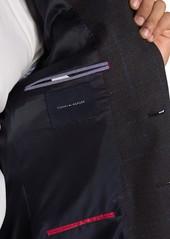 Tommy Hilfiger Brown & Blue Glenplaid with Overcheck Two Button Notch Lapel Sport Coat