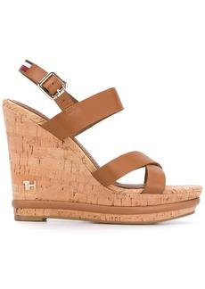 Tommy Hilfiger buckled wedge sandals