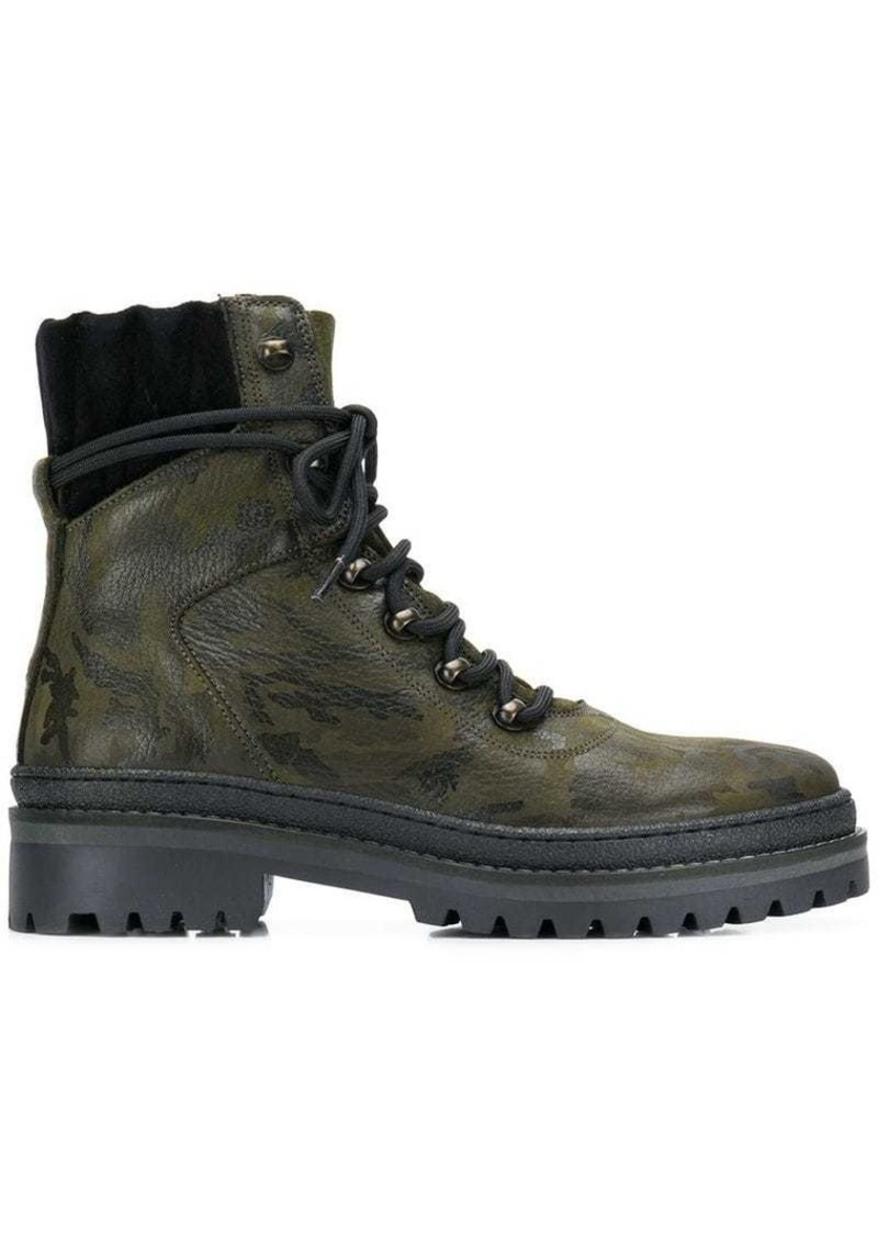 camouflage hiking boots
