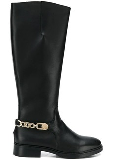 Tommy Hilfiger chain long knee length boots