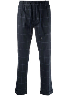 Tommy Hilfiger checked straight-leg trousers