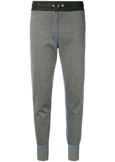 Tommy Hilfiger checkered slim-fit track trousers