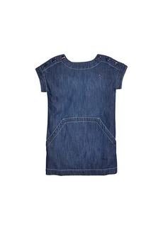 Tommy Hilfiger Cincinnati Denim Dress with VELCRO® Closure at Shoulders (Toddler/Little Kids/Big Kids)