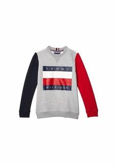 Tommy Hilfiger Color Block Icon Sweatshirt (Little Kids/Big Kids)