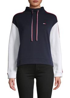 Tommy Hilfiger Colorblock Cotton-Blend Sweatshirt