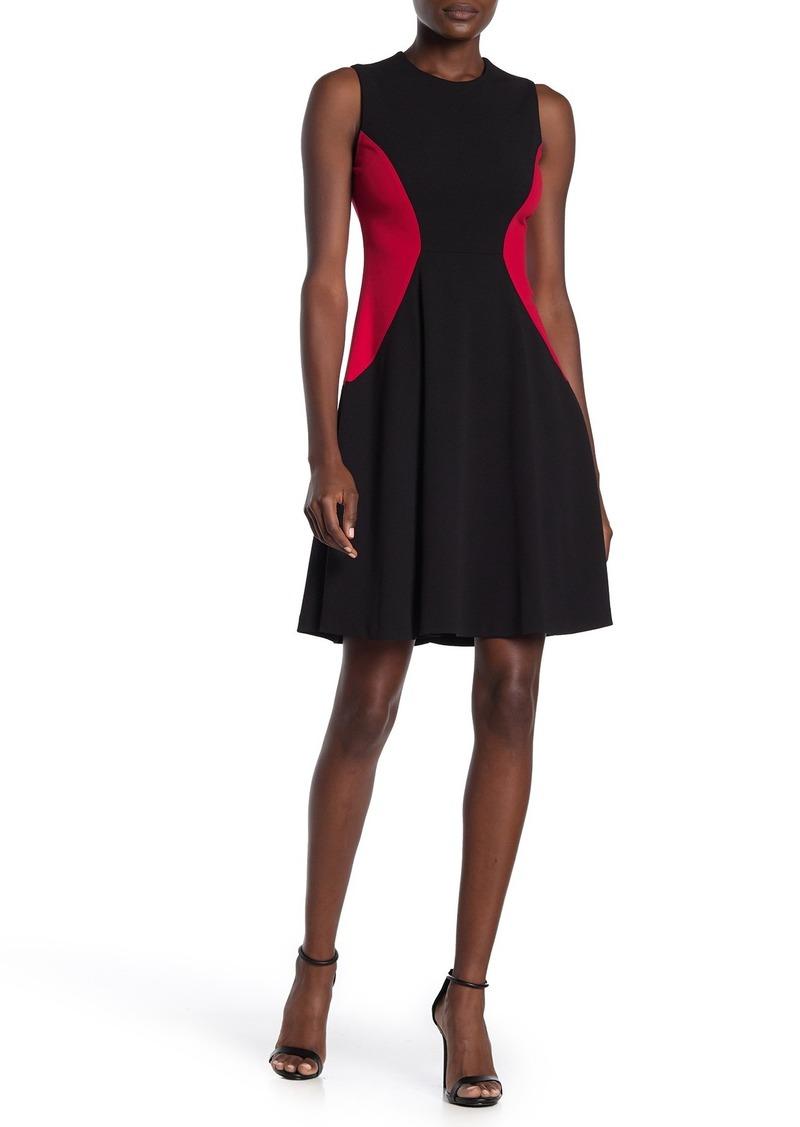 Tommy Hilfiger Colorblock Scuba Fit & Flare Dress