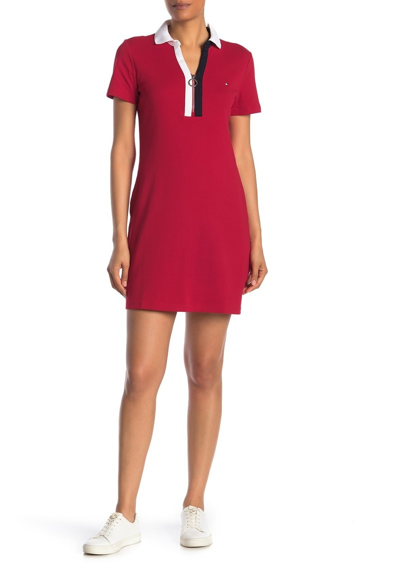 Tommy Hilfiger Colorblock Zip Polo Dress