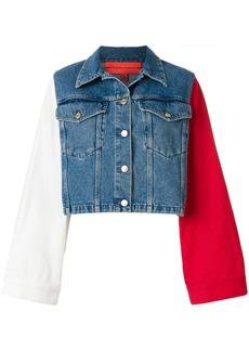 Tommy Hilfiger colour block cropped denim jacket