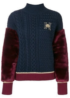 Tommy Hilfiger contrast colour-block sweater