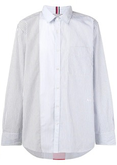 Tommy Hilfiger contrast panel striped shirt