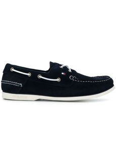 Tommy Hilfiger contrast stitch boat shoes