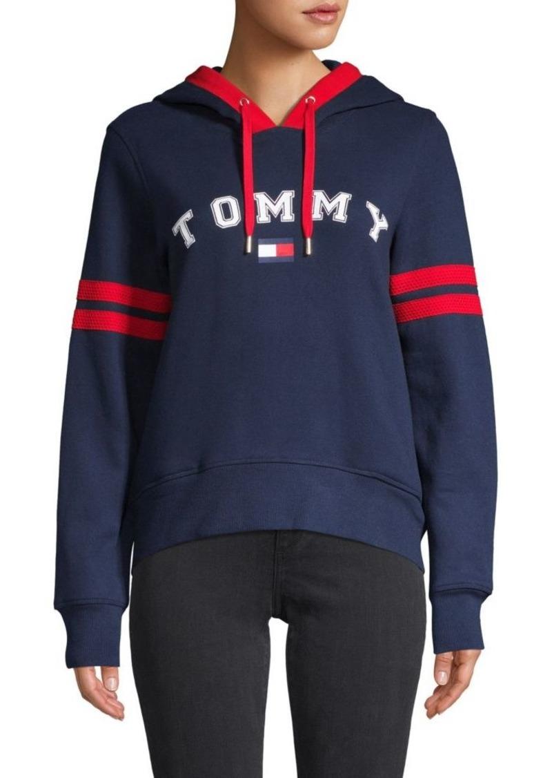 Tommy Hilfiger Cotton-Blend Logo Hoodie