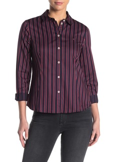 Tommy Hilfiger Covered Button Stripe Shirt