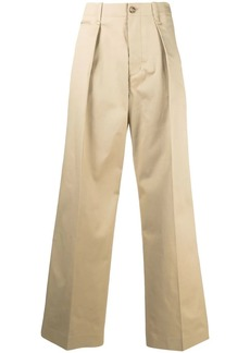 Tommy Hilfiger crest embroidery wide-leg trousers