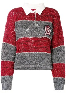 Tommy Hilfiger crest polo cropped sweater