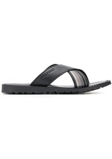 Tommy Hilfiger cross strap sandals