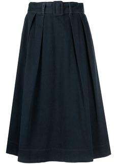 Tommy Hilfiger denim belted high-waisted skirt