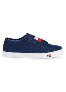 Tommy Hilfiger Denim Logo Patch Slip-On Sneakers
