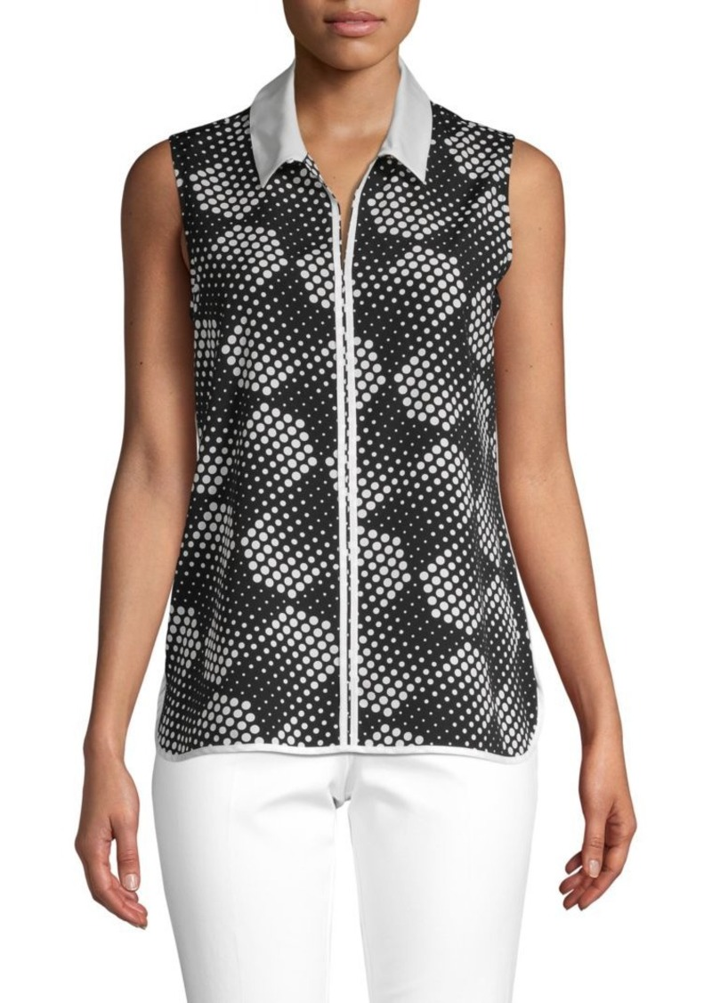 Tommy Hilfiger Dot-Print Sleeveless Top