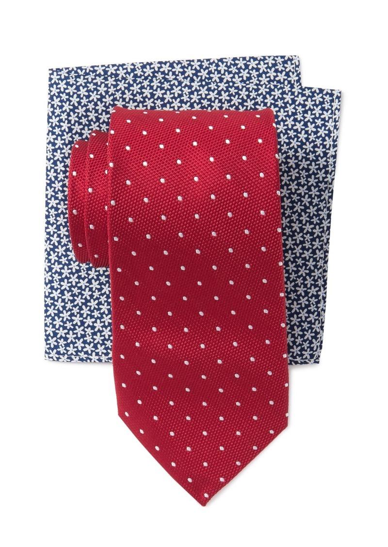 Tommy Hilfiger Dot Tie & Pocket Square