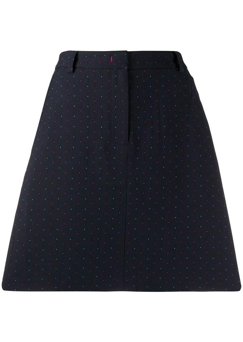 Tommy Hilfiger dotted jacquard A-line skirt