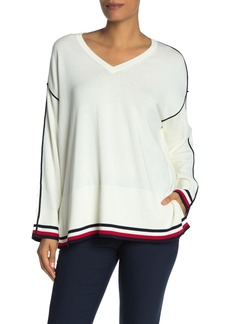 Tommy Hilfiger Drop Shoulder V-Neck Pullover