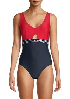 Tommy Hilfiger Elastic Logo One-Piece Swimsuit