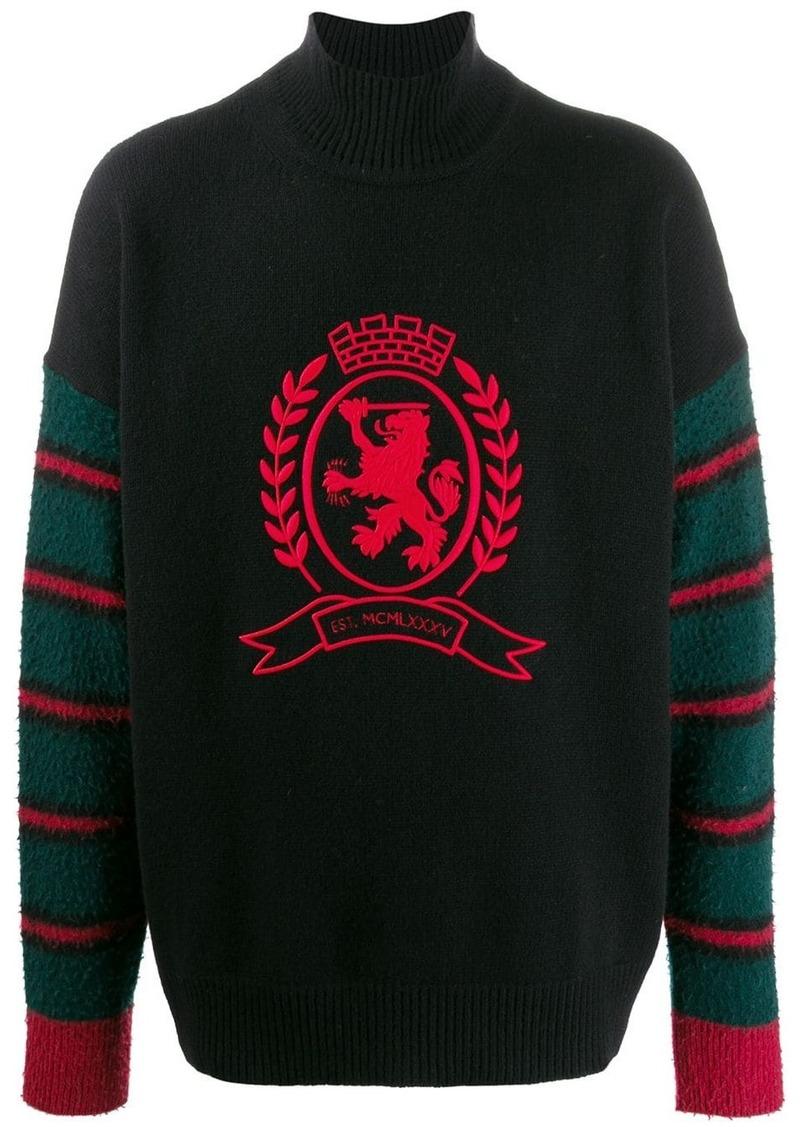 Tommy Hilfiger embroidered lion jumper