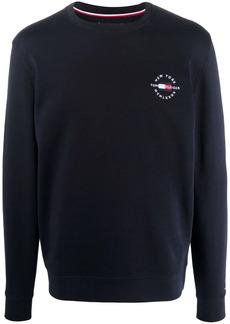 Tommy Hilfiger embroidered-logo cotton jumper