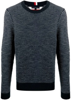 Tommy Hilfiger embroidered long-sleeve sweater