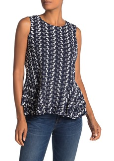 Tommy Hilfiger Embroidered Peplum Blouse
