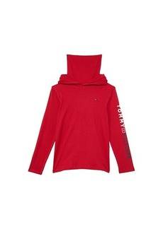 Tommy Hilfiger Face Mask Pullover Long Sleeve Knit with Hood (Big Kids)