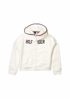 Tommy Hilfiger Faux Fur Lined Signature Hoodie (Little Kids/Big Kids)