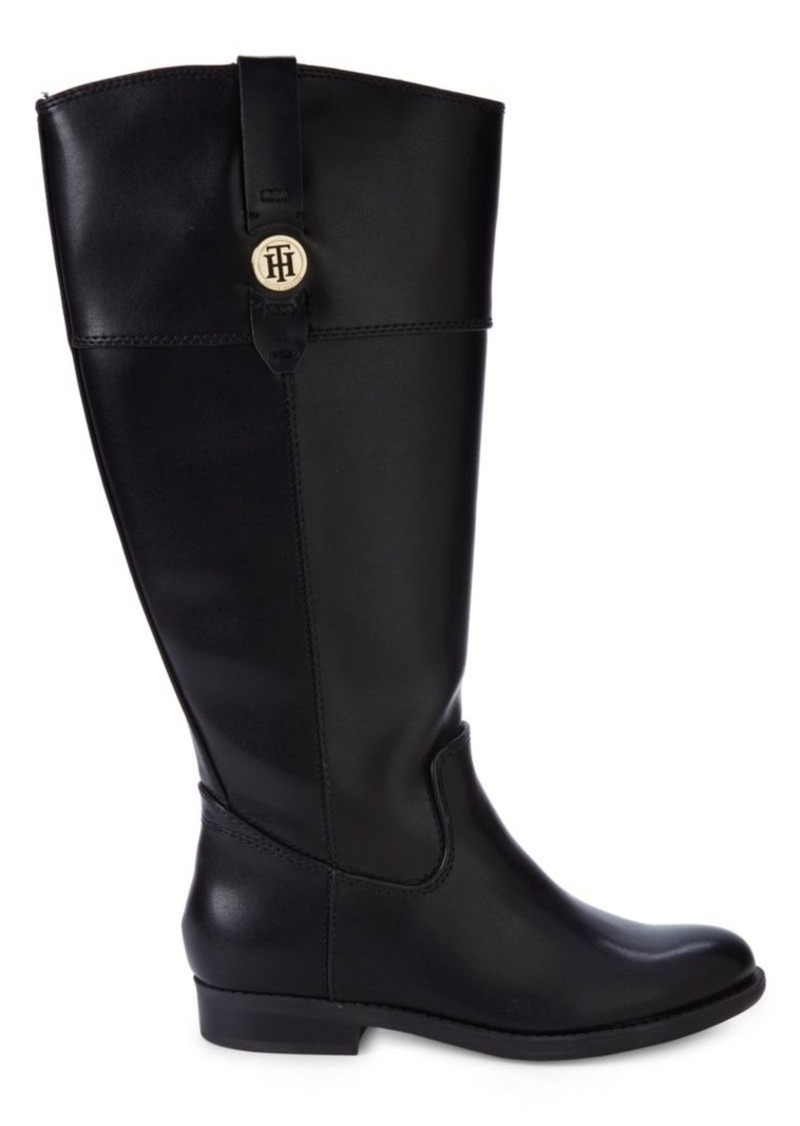 Tommy Hilfiger Faux Leather Mid-Calf Boots