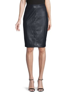 Tommy Hilfiger Faux Leather Pencil Skirt