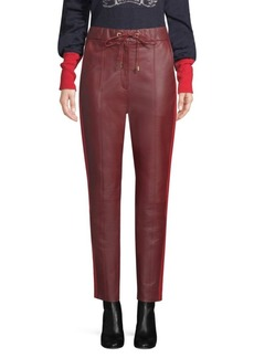 Tommy Hilfiger Faux-Leather Track Pants