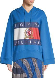 Tommy Hilfiger Flag Crest Cotton Hoodie