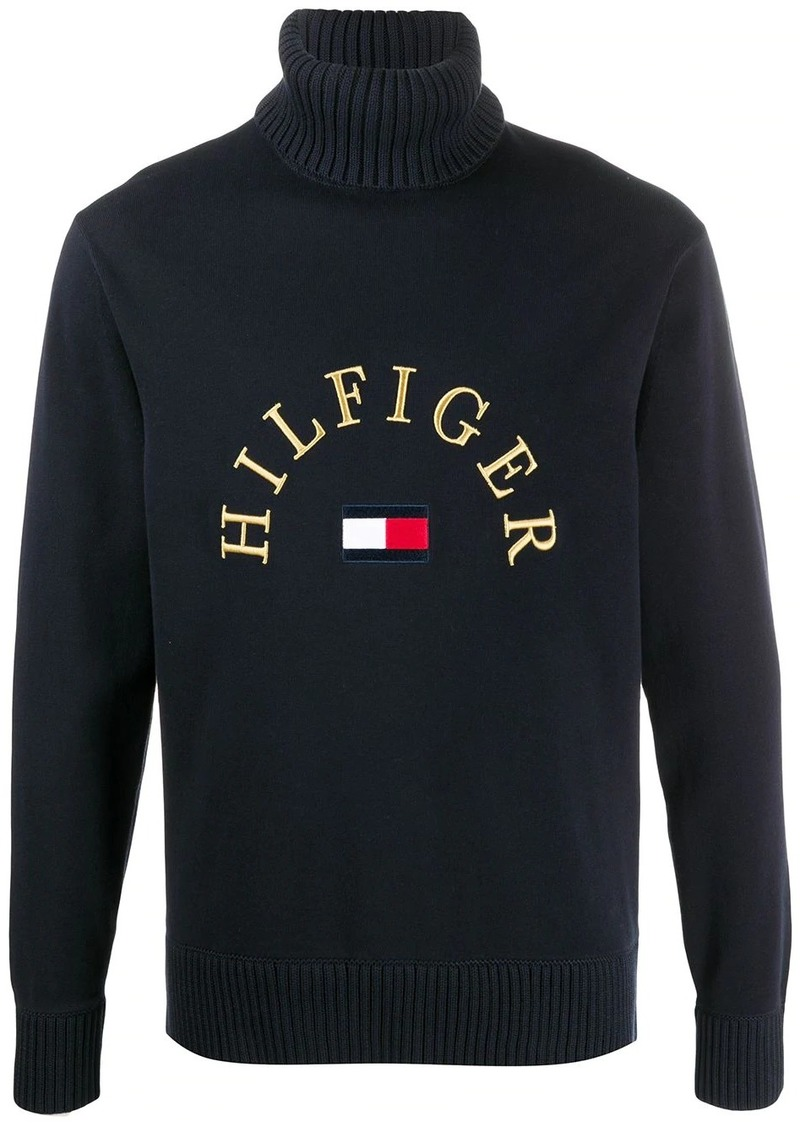 Tommy Hilfiger flag roll neck jumper